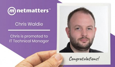 Chris Waldie promoted to IT Technical Manager