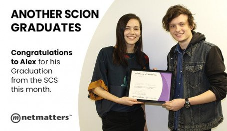 alex hirlam graduates from the Scion Coalition Scheme