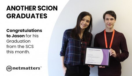 Jason Parfitt Graduates from the Scion Scheme