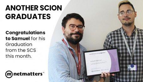 Sam Graduates the SCS