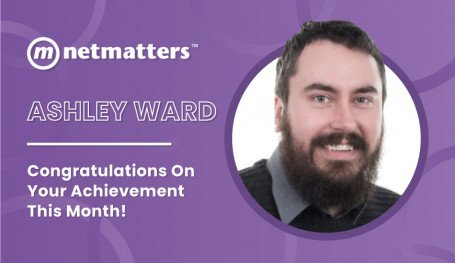 Ashley Ward is the notable of notable  employees at Netmatters for December 2020