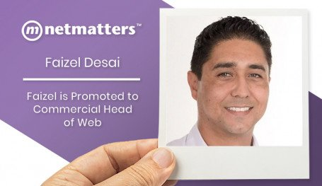 Faizel Desai (AKA Frank) is promoted to Commercial Head of Web at Netmatters