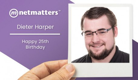 Dieter Harper celebrates his 25th birthday