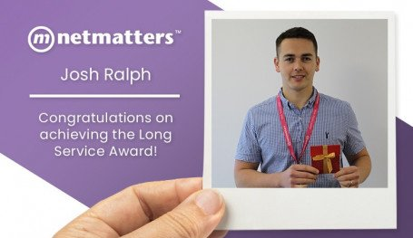 Josh Achieves the Long Service Award