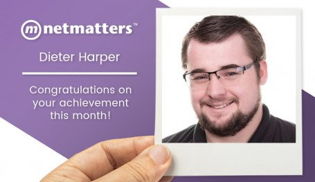 Dieter Harper is names as Netmatters most notable employee for July 2020