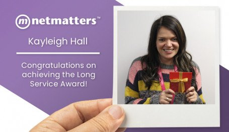 Kayleigh achieves the long service award