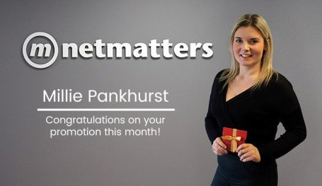 Millie Pankhurst gets promotion