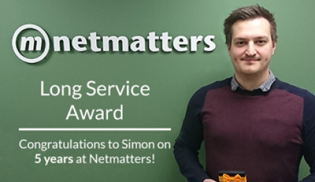 Simon Achieves the Long Service Award