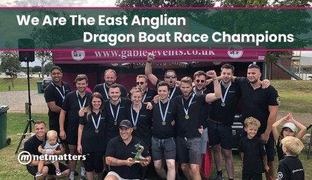 Netmatters win the dragon boat race