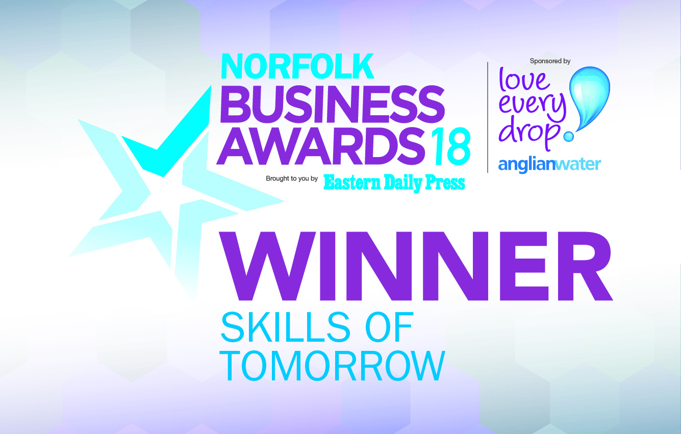 Anglian Water Skills of Tomorrow Award banner