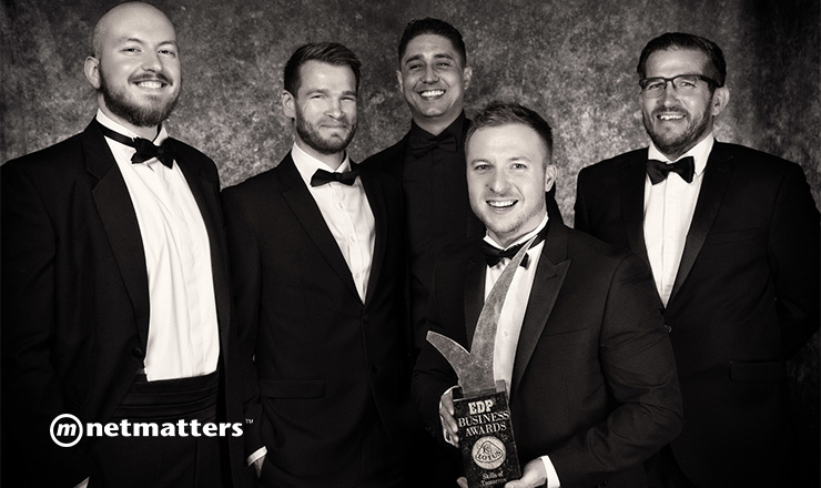 netmatters directors with the edp business awards trophy