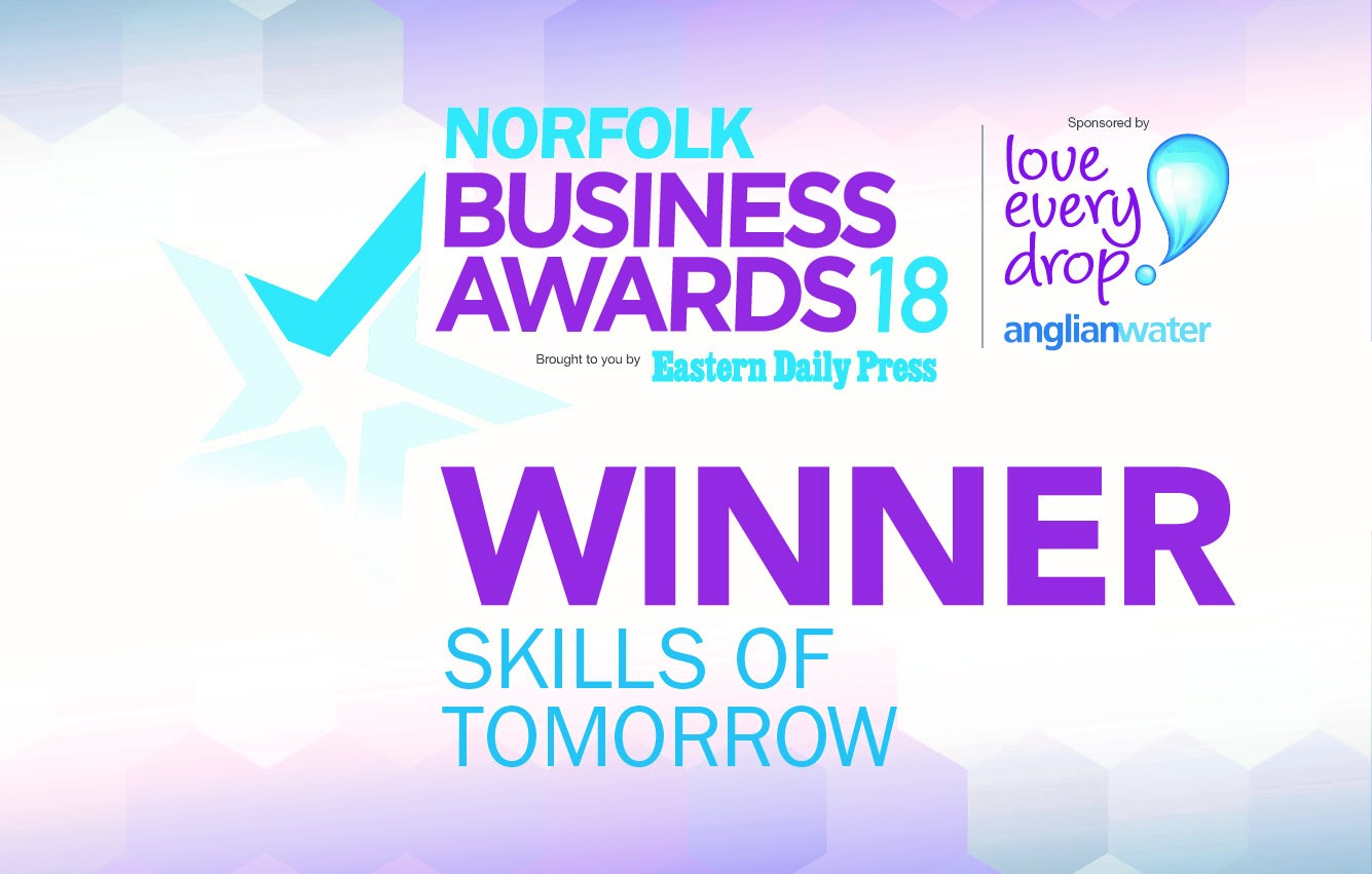 Eastern Daily Press Business Awards Winner for Skills of Tomorrow