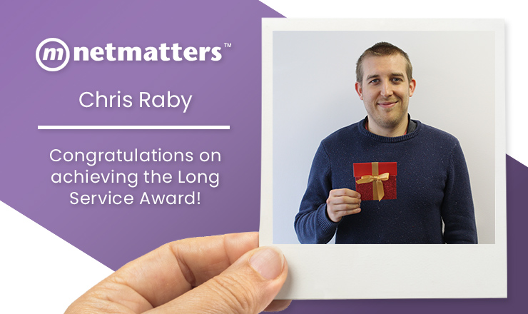Chris Achieves The Long Service Award