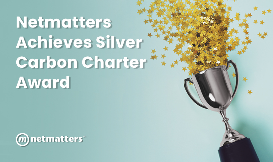 Silver trophy celebrating carbon charter award
