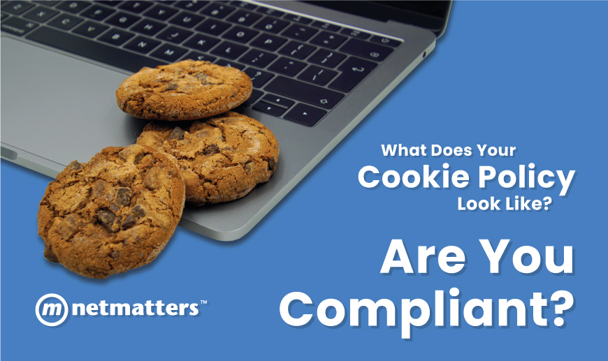 Cookies on a laptop to demonstrate the need for a compliant cookie policy