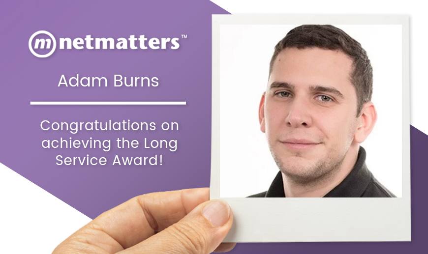 Netmatters Long Service Award Adam Burns
