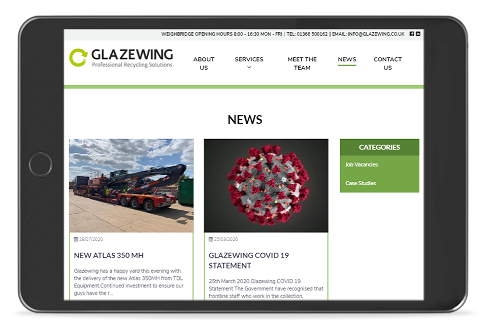 Glazewing News Page