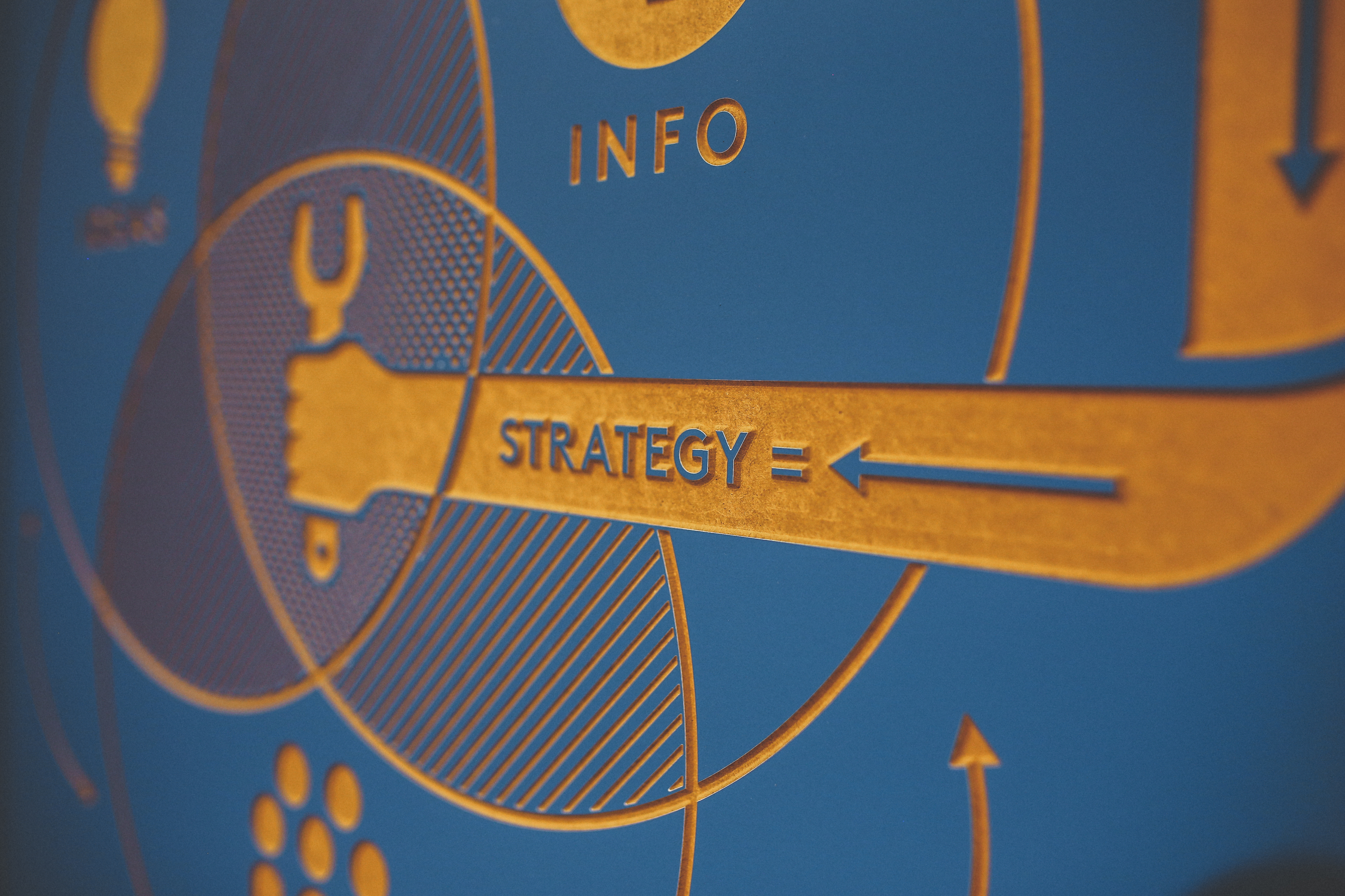Closeup of mural depicting SEO strategy