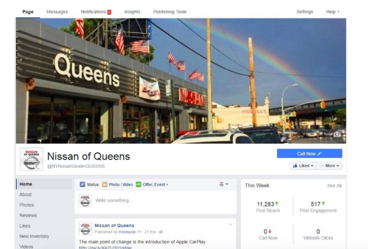Concept for Facebook Business layout