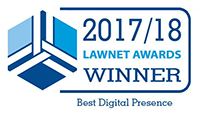 2017/2018 LawNet Awards Winner icon for Best Digital Presence
