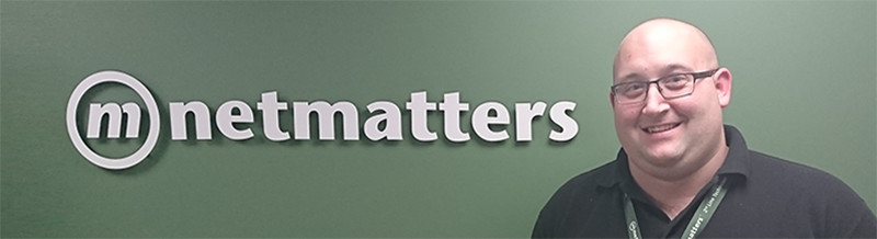 Netmatters employee who became a 2nd Line IT Technician