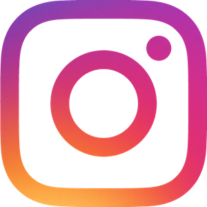 Vibrantly coloured Instagram logo