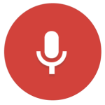 Microphone icon to activate voice user interface