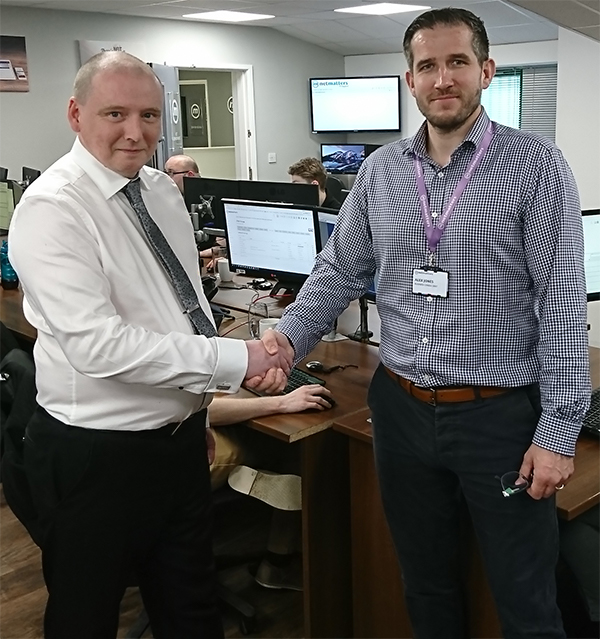 Managing directors agreeing on the Gapton Computers Netmatters merger