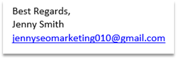 Screenshot of the scammers Gmail address showing them as untrustworthy