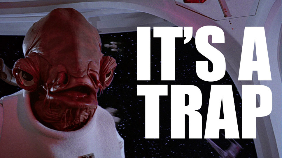 It's a trap image macro