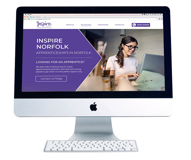 pay monthly website design inspire norfolk